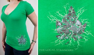 Leaf V-Neck Tee, Green, Women's Cut